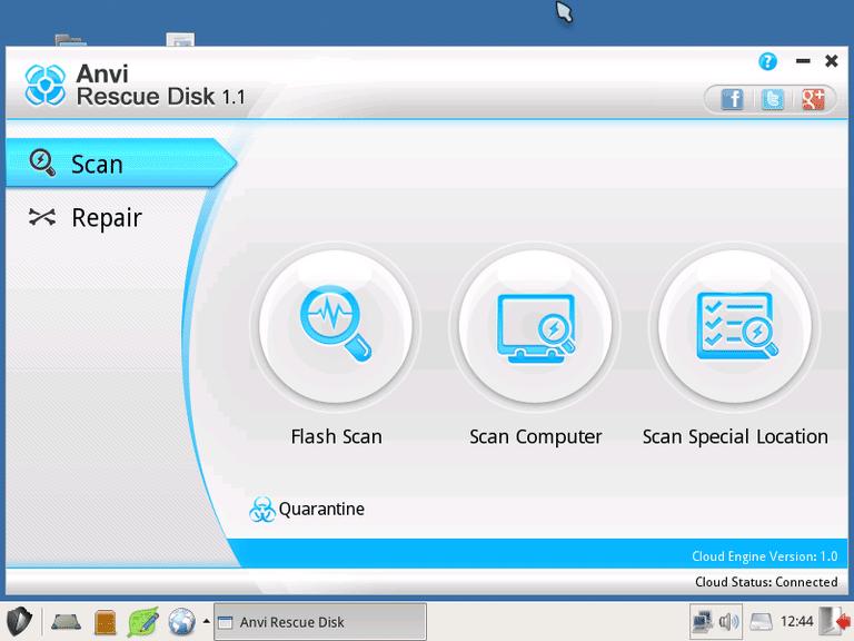 15 δωρεάν bootable Antivirus προγράμματα - Anvi Rescue Disk